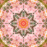 Seamless pattern with paintings leaves Royalty Free Stock Image