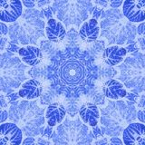 Seamless pattern paintings leaves on fabric Royalty Free Stock Images