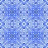 Seamless pattern paintings leaves on fabric Stock Photography