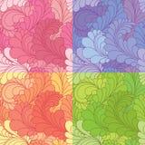 Seamless pattern with paisley Stock Photo