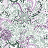 Seamless pattern with Paisley. Background with traditional asian motifs. Stock Photo