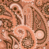 Seamless Pattern . Paisley Colorful Background. Stock Image