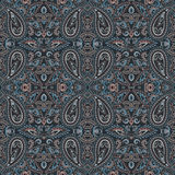 Seamless pattern with paisley and etno elements. Vector background. Stock Photos