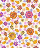 Seamless, pattern  paisley flowes Royalty Free Stock Image