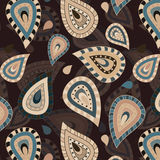 Seamless pattern with paisley ornament Royalty Free Stock Photography