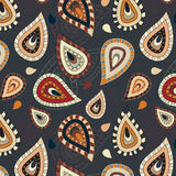 Seamless pattern with paisley ornament Royalty Free Stock Images
