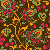 Seamless pattern of paisley ornament Stock Photos