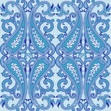 Seamless pattern with paisley.Traditional oriental filigree ornament. Royalty Free Stock Photo