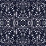 Seamless pattern with paisley Traditional oriental filigree ornament. Royalty Free Stock Images