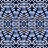 Seamless pattern with paisleyTraditional oriental filigree ornament. Royalty Free Stock Photography