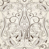 Seamless pattern with paisleyTraditional oriental filigree ornament. Seamless pattern with paisley.FLoral background.Traditional oriental filigree ornament Royalty Free Stock Image