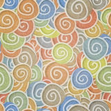 Seamless pattern pale colors curles Royalty Free Stock Photos