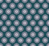 Seamless pattern of pale pink petals on a dark background. Vector seamless pattern with light pink petals on a dark green background. For creativity and design Royalty Free Stock Photos