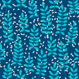 Seamless pattern with palm leaves. Seamless pattern with big blue palm leaves Royalty Free Stock Images