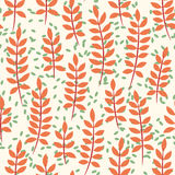 Seamless pattern with palm leaves. Seamless pattern with big orange palm leaves Stock Photography