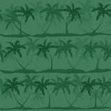 Seamless pattern of palm trees Royalty Free Stock Photos