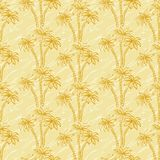 Seamless pattern, palm trees contours Royalty Free Stock Photos
