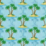 Seamless pattern, palm trees Stock Image