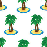 Seamless pattern with palm trees on a white background Stock Photos
