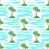 Seamless Pattern, Palms Royalty Free Stock Image