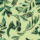 Seamless pattern of palms leaves royalty free illustration