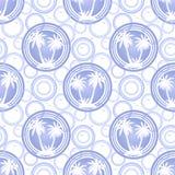 Seamless Pattern, Palms Royalty Free Stock Photo