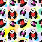 Seamless pattern with panda Royalty Free Stock Photography