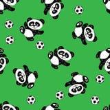 Seamless pattern  with panda Stock Photography