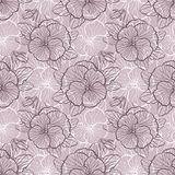 Seamless pattern with pansy Stock Photos
