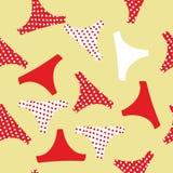 Seamless pattern panties woman Royalty Free Stock Photography