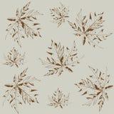 Seamless pattern of papaya leaf stock photo