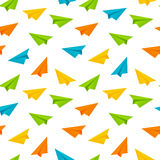 Seamless pattern with paper airplanes Royalty Free Stock Photography