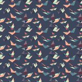Seamless pattern of paper boats. stock illustration