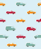 Seamless pattern with paper cars Royalty Free Stock Image