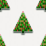 Seamless pattern with paper Christmas trees Royalty Free Stock Photos