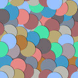 Seamless pattern with paper circles Stock Photos