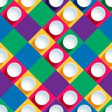Seamless pattern from paper circles on a colored Stock Image