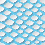 Seamless pattern with paper clouds Royalty Free Stock Photos