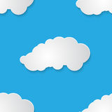Seamless pattern with paper clouds vector illustration