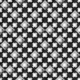 Seamless pattern from paper crosses on a black and white background Stock Photos
