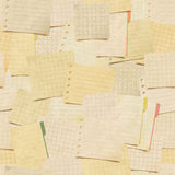 Seamless pattern with paper notes Stock Photography