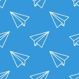 Seamless pattern with paper planes. Vector. Illustration. Soft colors Stock Images