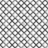 Seamless pattern from paper rhombus on a black and white background Stock Photos