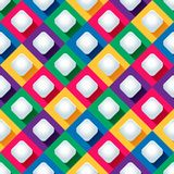 Seamless pattern from paper rhombus on a colored background Royalty Free Stock Photography