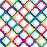 Seamless pattern from paper rhombus on a colored background Stock Photography