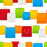 Seamless pattern with paper shopping bags Royalty Free Stock Photo
