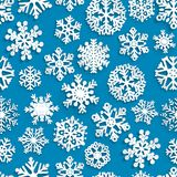 Seamless pattern of paper snowflakes Royalty Free Stock Photo