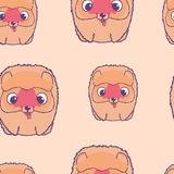 Seamless pattern with papillon puppies. Colorful vector illustration Royalty Free Stock Image