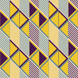 Seamless pattern of parallelogram tiles in retro colors Royalty Free Stock Photos