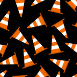 Seamless pattern with parking cones Royalty Free Stock Photo